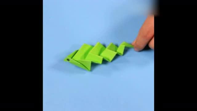 创意手工折纸diy教程-眼镜蛇,逼真但不会咬人哦