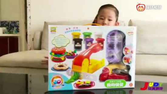 judy玩具测评宝宝过家家玩具,无毒彩泥轻土小朋友制作食物玩具套装