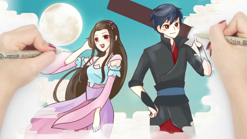 双手绘《斗破苍穹》萧炎和萧薰儿,动画对比剧版吴磊林允你更爱哪个?