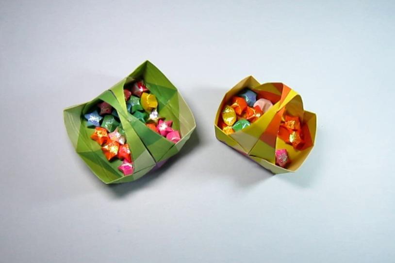 视频:儿童手工折纸手提小篮子,一张纸就能折出漂亮的菜篮子