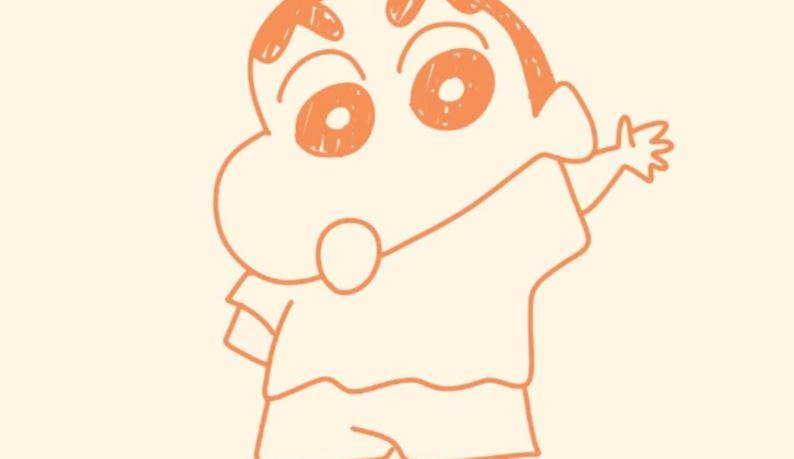 视频-美兰简笔画之画卡通:蜡笔小新简笔画教程