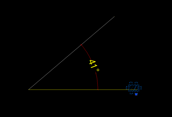 在CAD中使图块按照某条线的尺寸旋转?cad梁配筋角度怎么看图片