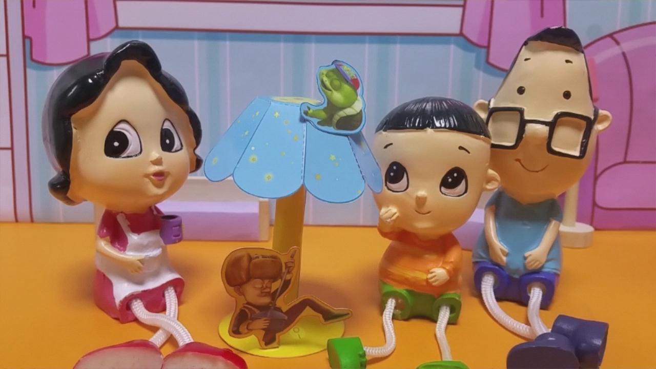 大头儿子小头爸爸手工制作儿童台灯 亲子游戏玩具