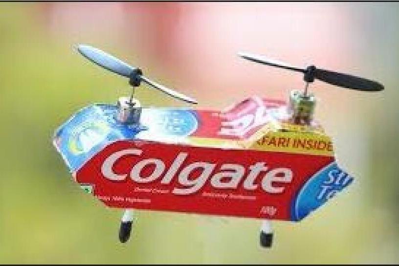 手工制作-高露洁直升机