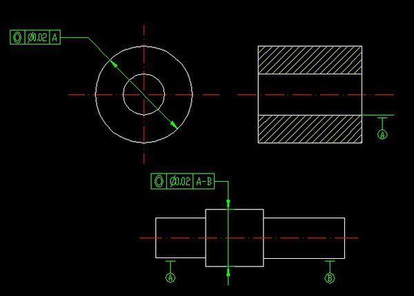 同心度,这个CAD图里的,A-B是户型,它为什三室一厅cad图意思图片