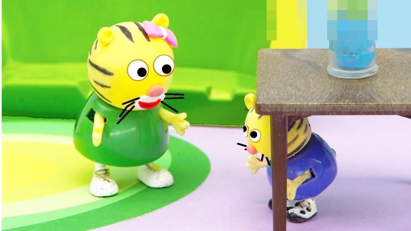 视频-橡皮泥趣动画:小老虎宝宝和妈妈捉迷藏
