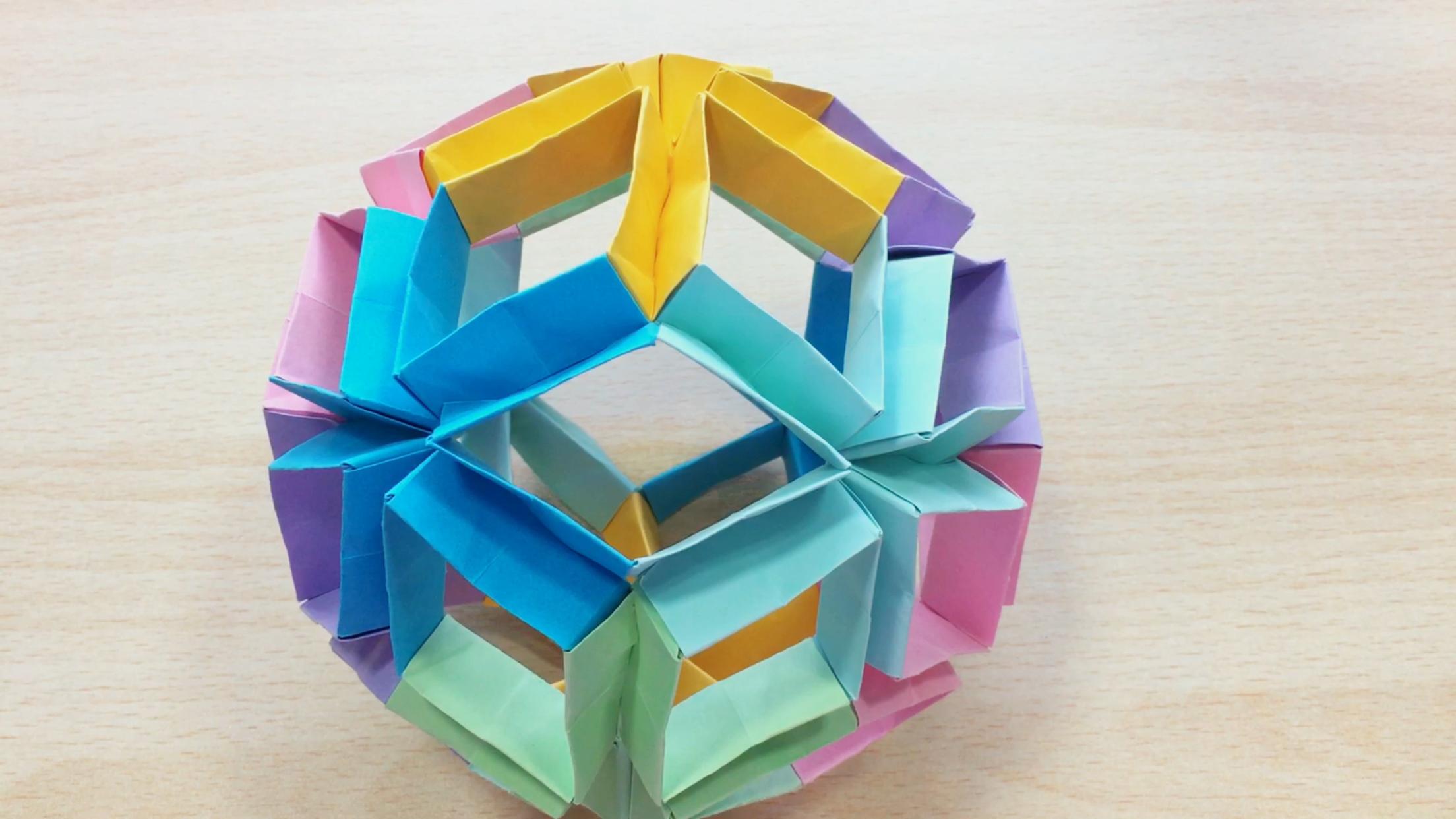 魔术花球折纸教学视频-diys手工制作教学视频-北京天联瑞和科技.