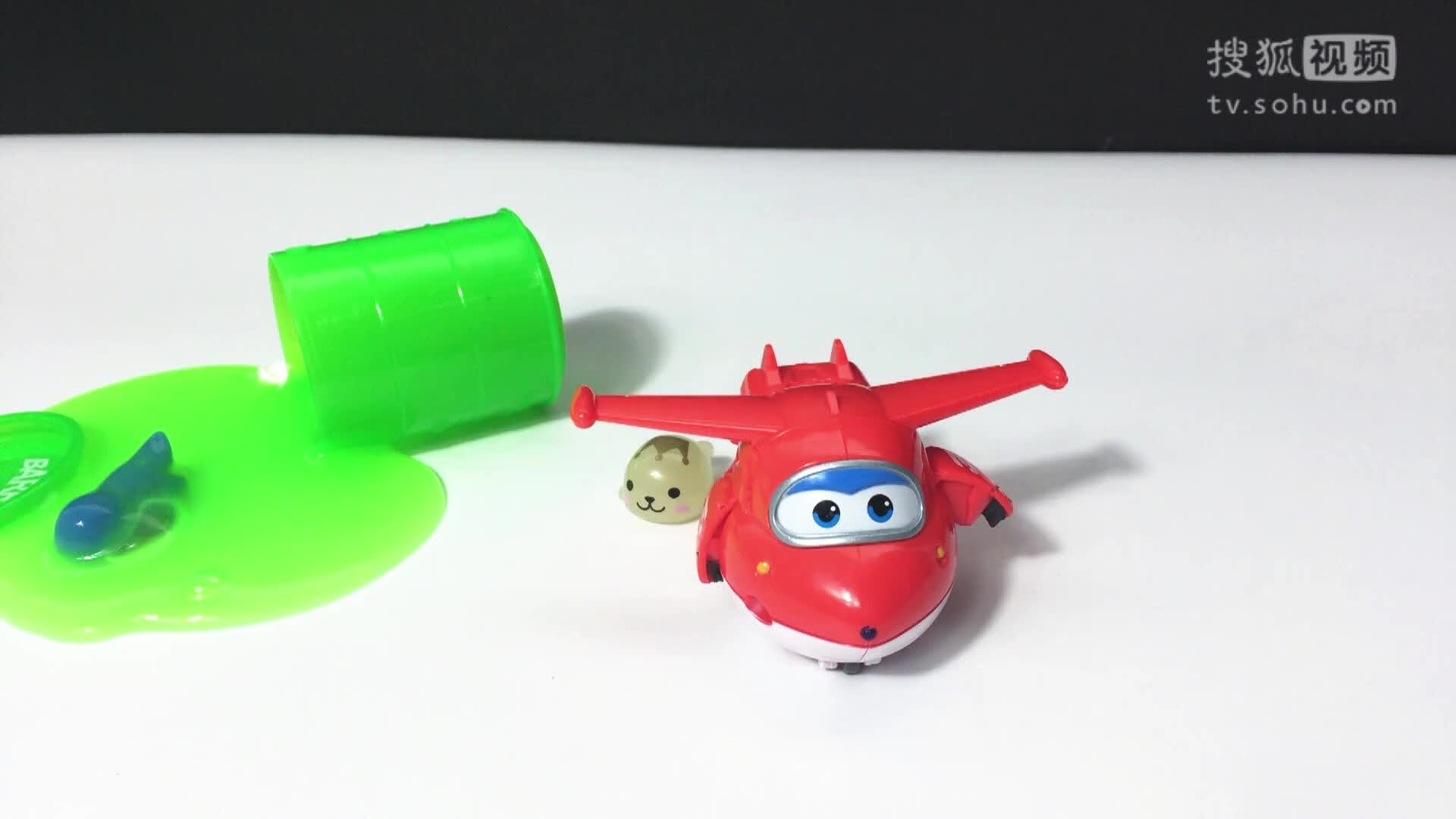 超级飞侠拯救小恐龙 日本食玩 qq粘土定格动画