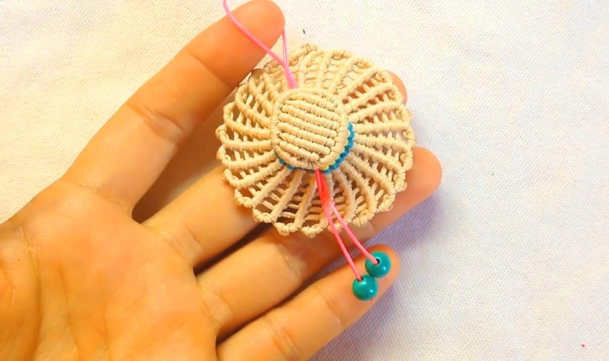 """手工编织diy,绳编""""小草帽""""钥匙链的方法,步骤简单又详细"""