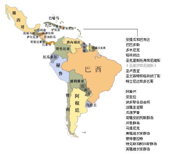 南美洲地图怎么画