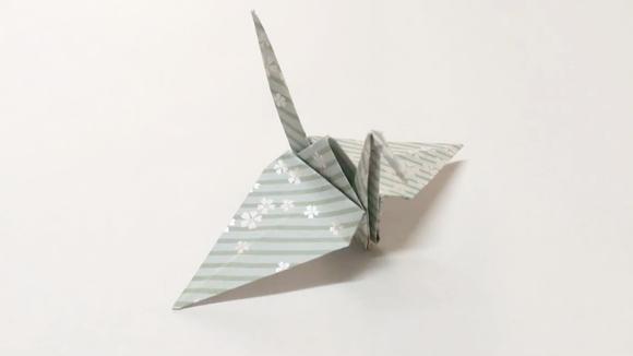 手工diy折纸教程,制作一个千纸鹤的叠纸方法