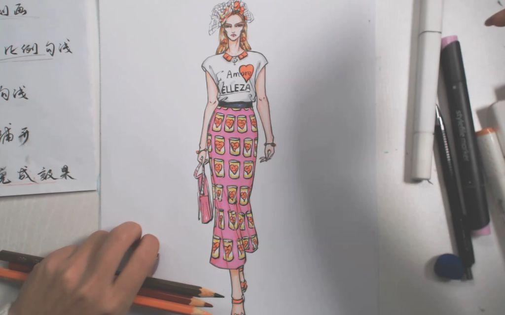 服装设计:绘制休闲运动装效果图全过程!