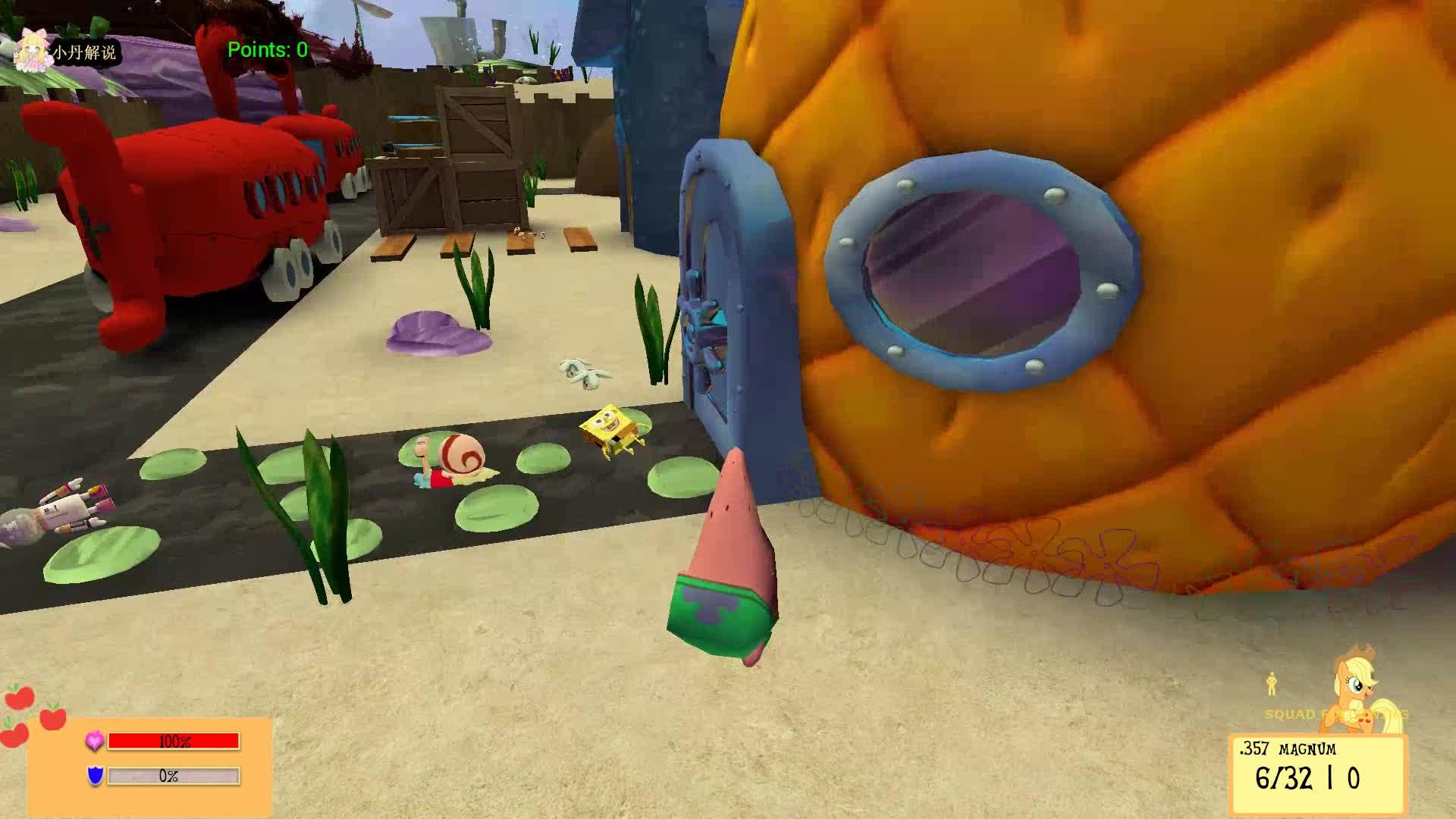 海绵宝宝派大星偷吃蟹老板的汉堡-gmod我的世界视频大全-mc小丹