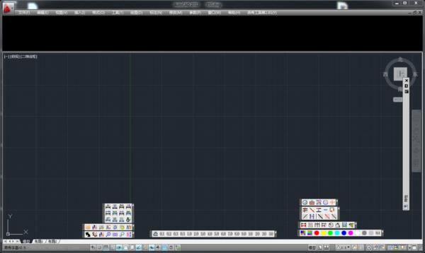 AUTOCAD情况这是,上部工具栏前置变黑cad消失图片