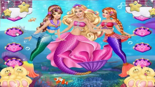 芭比公主之美人鱼 艾莉美人鱼加冕 公主苏菲亚之美人鱼动画片