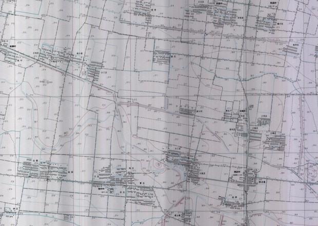 将翻拍的地形图编辑成cad进行转换cad输入-3022度图片
