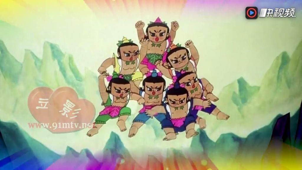 少儿舞蹈《葫芦娃兄弟》演出背景视频led大屏幕素材