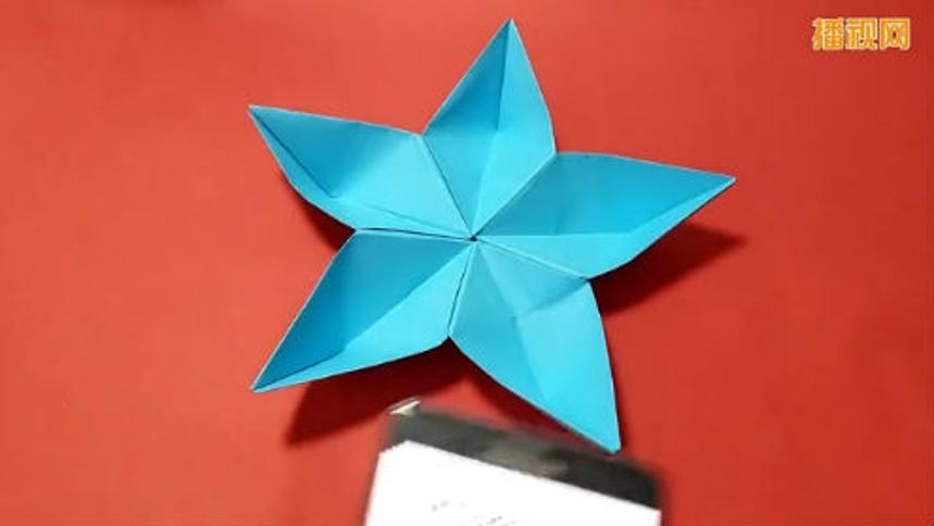 折纸五星花 儿童折纸大全