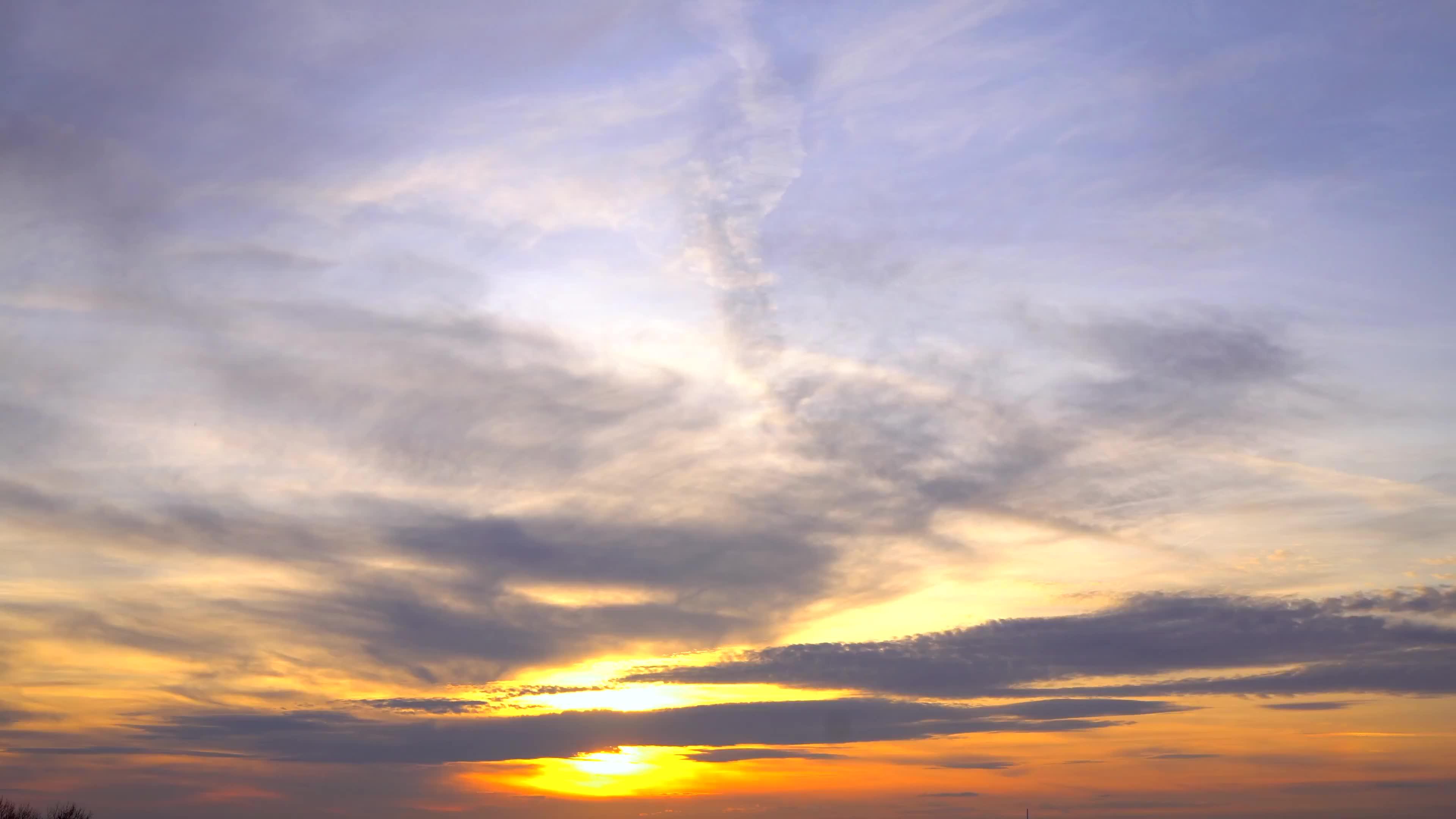 白天到晚上的视频剪辑素材.夕阳 |太阳下山素材