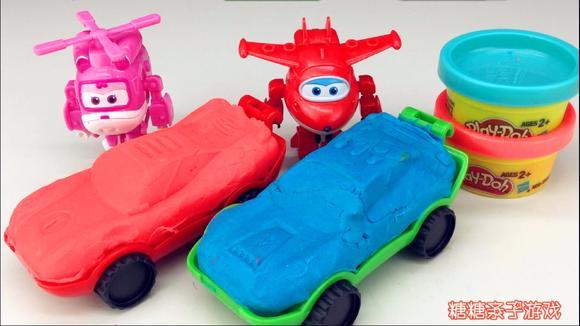 超级飞侠彩泥模具制作小汽车