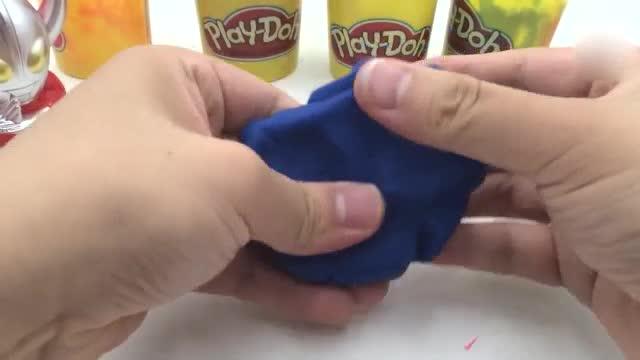 玩具迪迦奥特曼制作美味冰淇淋甜筒橡皮泥玩具