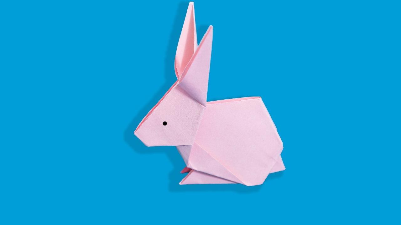 小白兔折纸方法,亲子立体手工,幼儿园创意手工制作