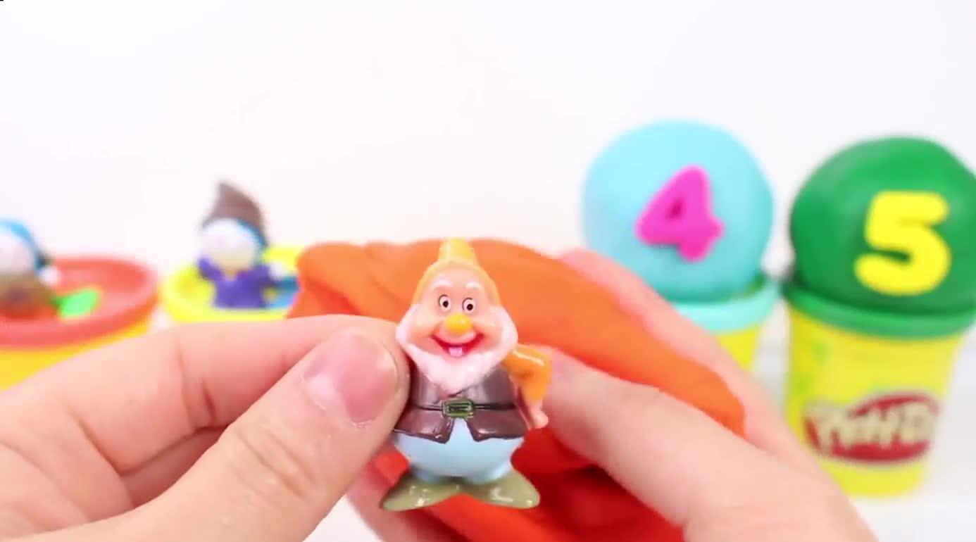橡皮泥制作数字蛋糕 北美玩具橡皮泥彩泥制作玩具