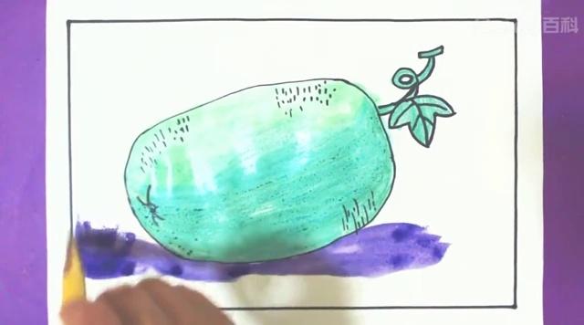 视频-创意儿童简笔画教程:跟着视频快速学会画可爱的卡通冬瓜