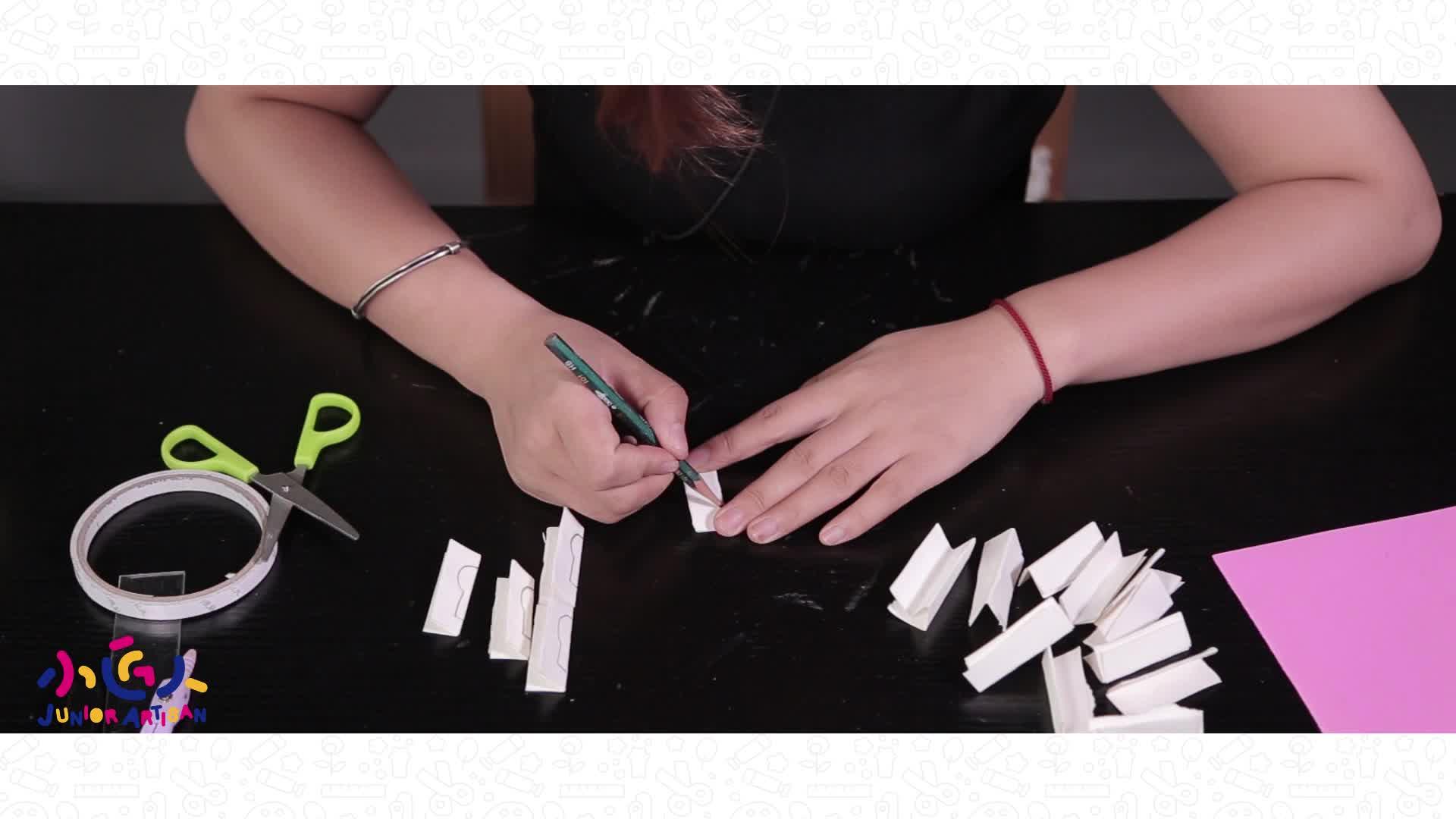 小学生手工制作大全:小匠人手工课堂用剪纸手工教你如何做麦子