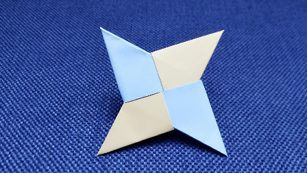 视频-创意儿童折纸教程:教你快速折出手里剑