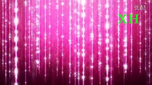 婚礼晚会演出绚丽粉色流星雨舞蹈背景led大屏幕素材