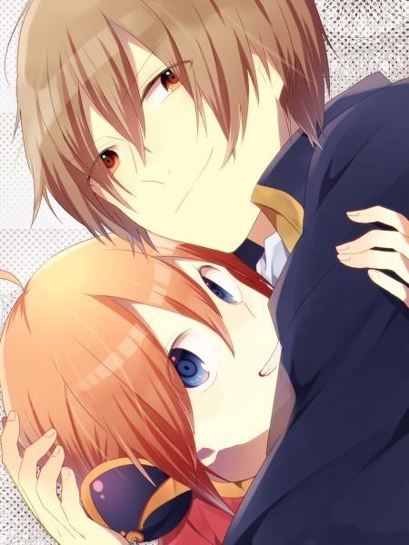 帅气漂亮的图片女孩和可爱的男孩接吻的动漫撒理发自己女生给自己图片