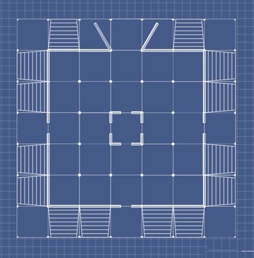《方舟:生存进化》工程房屋设计格式分享a4图纸住宅图纸图片