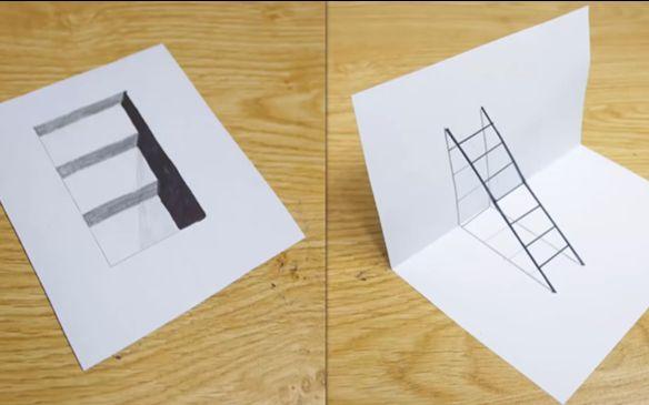教你绘制3d立体画的3种简单方法