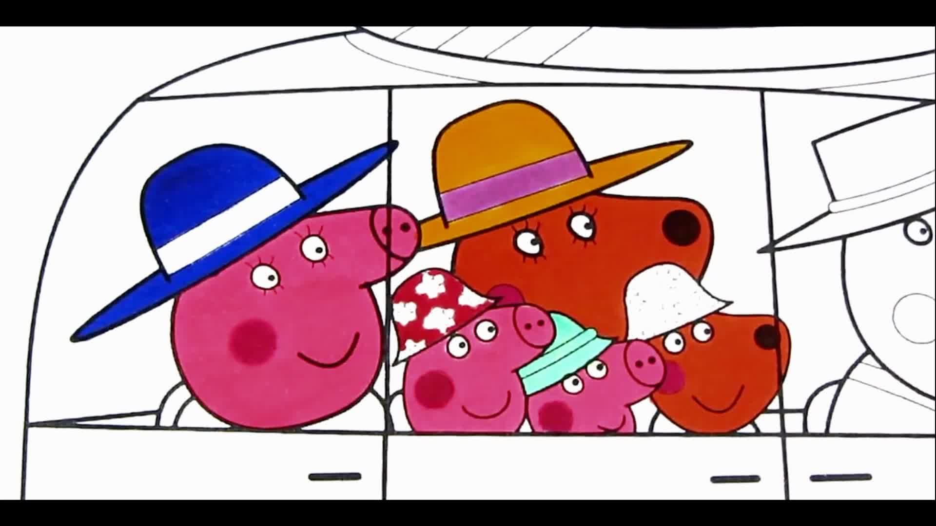 小猪佩奇创意绘画涂鸦 佩佩猪早教视频