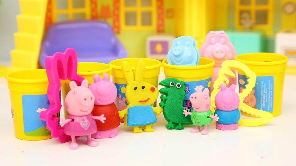 小猪佩奇 粉红猪彩泥手工 制作3d小猪佩奇人仔 趣盒子 动画