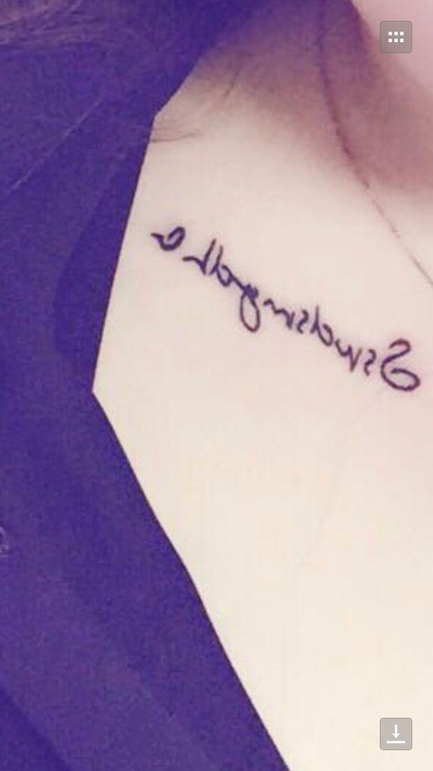 跪求大师翻译图片中的字母纹身
