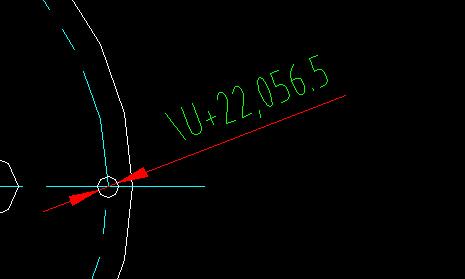 CAD时候显示的直径标注/U+22,056.5。养殖场cad图片