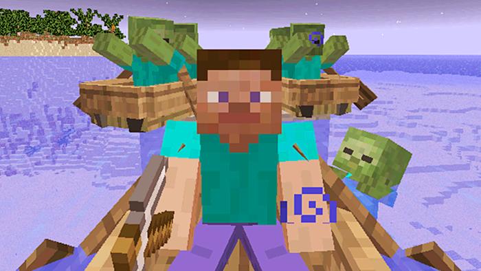 大海解说 我的世界minecraft 荒岛求生捞沉船宝藏