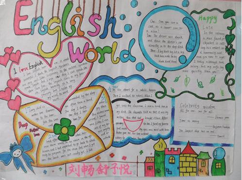五年级下册的英语绘本手抄报简单既好看的有哪