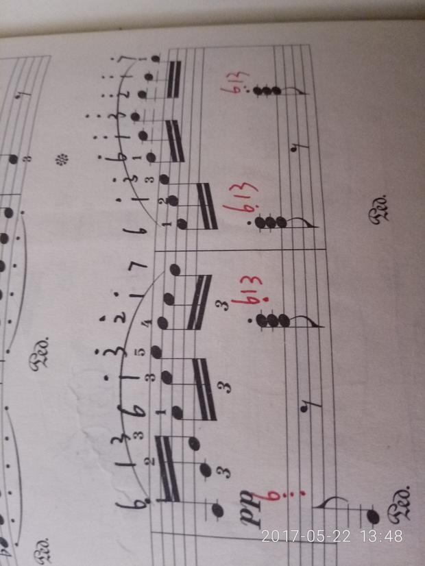 钢琴五线谱