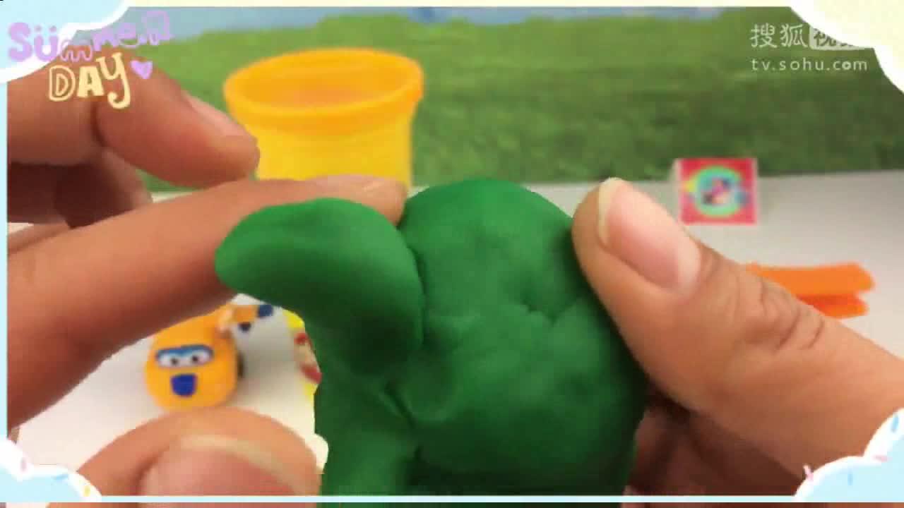 超级飞侠第二季用彩泥黏土制作可爱的小乌龟 03-亲子游戏大全-欧阳.