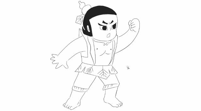 [小林简笔画]绘画儿童亲子动画片葫芦娃卡通动漫简笔画教程