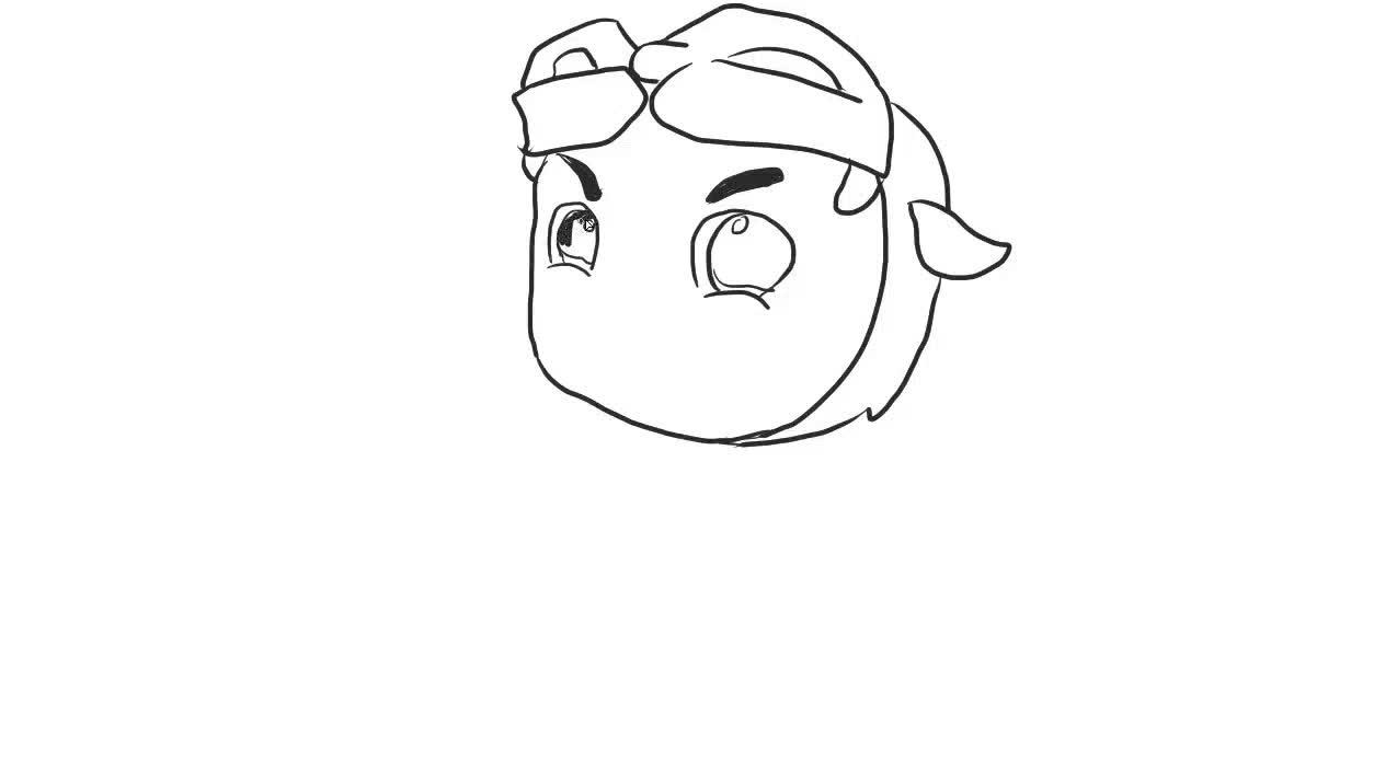 猪猪侠儿童亲子简笔画-绘心儿童绘画教程-绘心儿童
