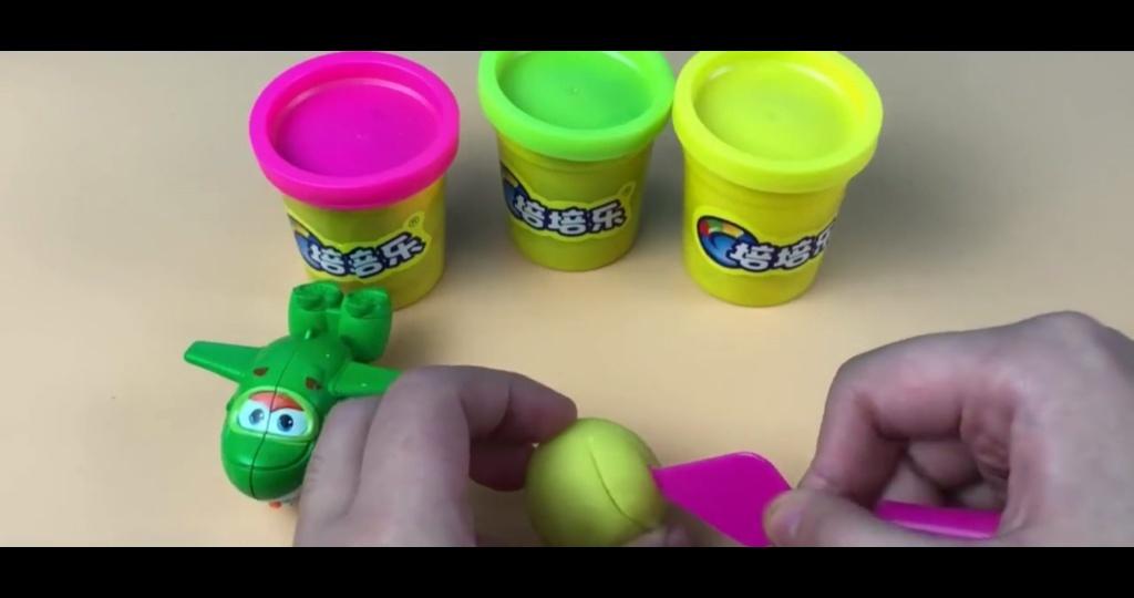 超级飞侠小青玩培乐多橡皮泥制作美味菠萝 母婴 儿童 少儿
