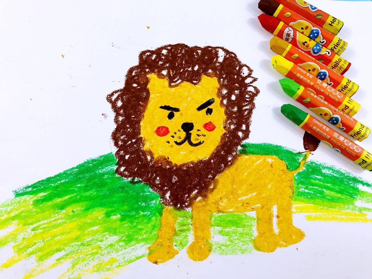 简笔画教程可爱的小狮子