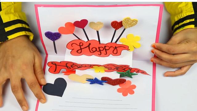 新年贺卡手工制作,立体创意贺卡,卡片手工折纸教程