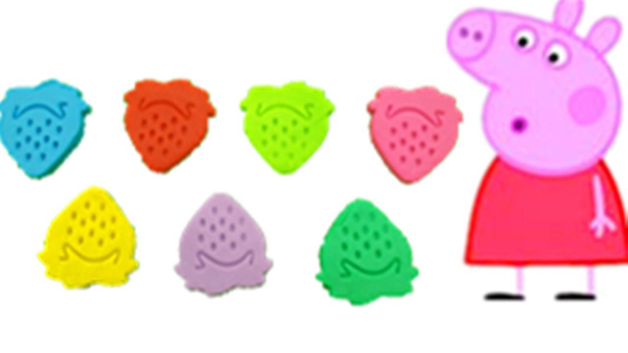 小猪佩奇彩泥培培乐手工制作水果草莓 儿童玩具diy!