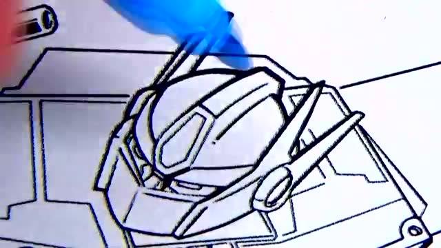 儿童简笔画:变形金刚擎天柱