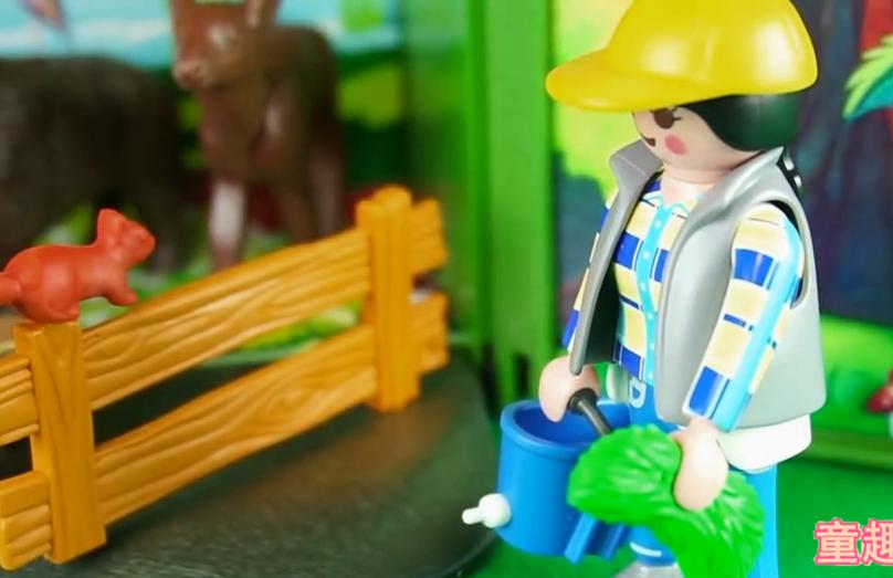 各种小动物马牛鹿模型玩具 乐高小人的农场玩具套装